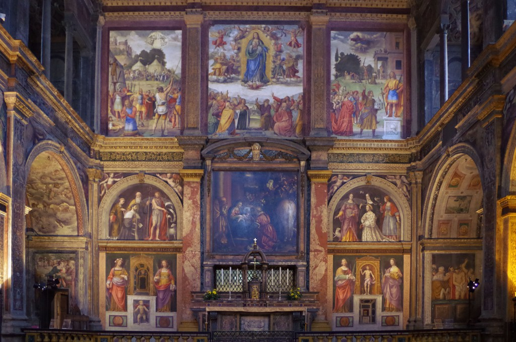 affreschi in san maurizio