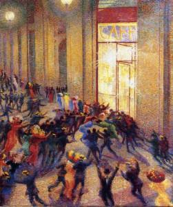 Umberto Boccioni, Rissa in Galleria